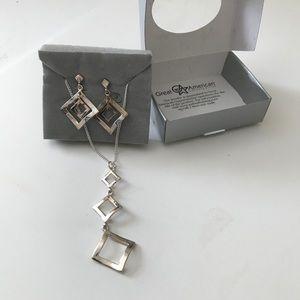 Jewelry - Sterling silver pendant & earrings. New.